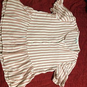 Madewell | Half-Button Stripe Top
